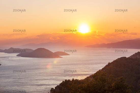 Turkey coast on sunset