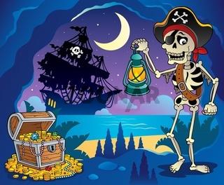 Pirate cove theme image 2 - picture illustration.