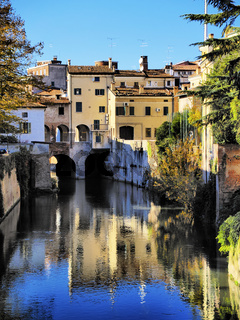 Canal in Mantua, Italy
