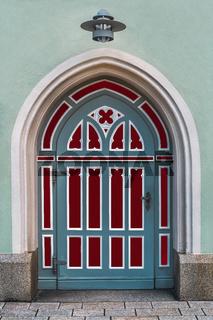 Die restaurierte Kirchentuer