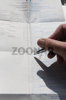 Bundestagswahl: Stimmzettel