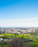 Skyline Paphos sea cityscape Cyprus