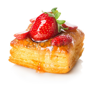 Cake of puff pastry