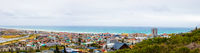 Panoramic Elevated view of Muizenberg beach in False Bay Cape Town