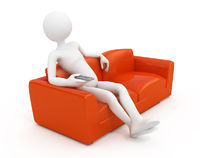 Man on sofa watching Tv