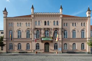 Rathaus von Sternberg, Mecklenburg-Vorpommern, Deutschland