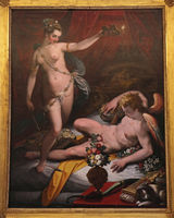 Rome, Galleria Borghese. Amor and Psyche by Jacopo Zucchi