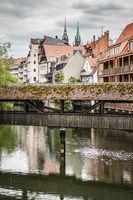 Bridge over Pegnitz river in Nuremberg