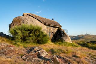 Beautiful stone Penedo Boulder House in Fafe, in Portugal