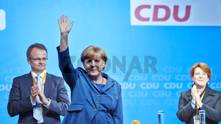 Angela Merkel , Chancellor and Top canditate of the CDU, visits Potsdam.