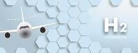 Blue Hexagon Structure Jet H2 Hydrogen Header