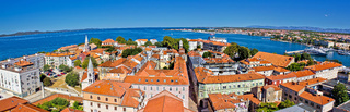 Town of Zadar panoramic view