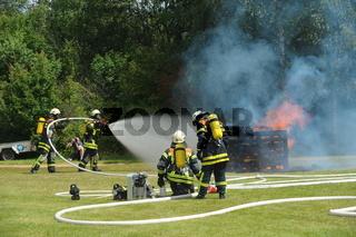 Feuerwehr Löschübung