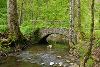 Steinbrücke im Katzenbachtal bei Bad Niedernau, Rottenburg, Tübingen, Baden Württemberg