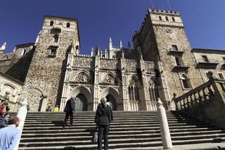 Aufgang zum Kloster Guadalupe in Spanien