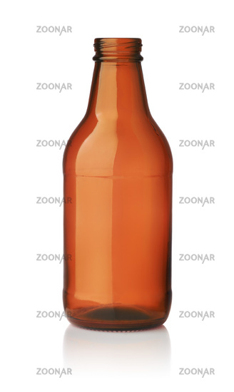 Empty small brown glass beer bottle