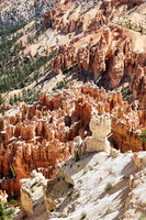 Bryce Point lookout in the Bryce Canyon National Park. Utah USA