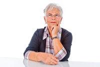 Zufriedene Seniorin