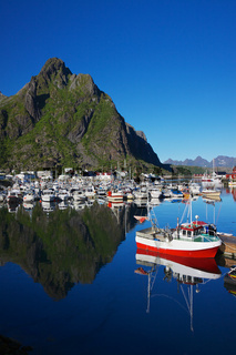 Harbor in Svolvear on Lofoten