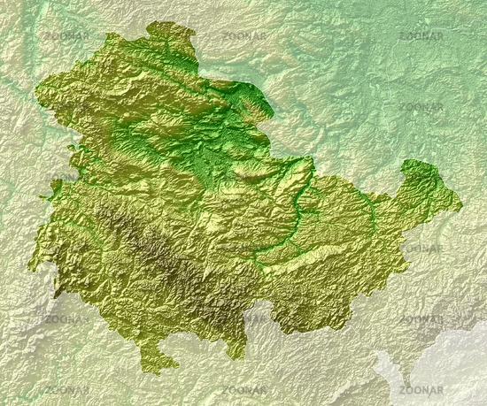 topographische karte thüringen Foto Topografische Relief karte Thüringen Bild #4965529 topographische karte thüringen