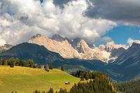 Huetten auf der Seiser Alm, Alpe di Siusi, Suedtirol