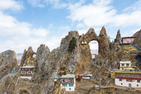 Zizhu mountain closeup in tibet