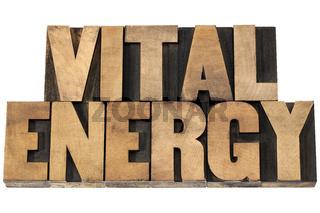 vital energy in wood type