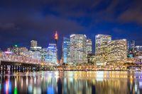 Sydney Skyline At Dusk in Australia