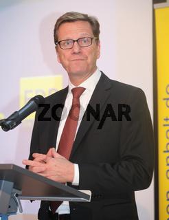 Dr. Guido Westerwelle (FDP) bei einer Wahlkampfveranstaltung am 04.09.2013 in Magdeburg