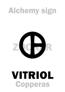 Alchemy: VITRIOL (Vitriolum) / COPPERAS (Couperose)