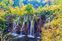 The picturesque waterfalls
