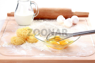 Baking ingredients for pasta and noodles