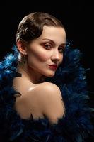 vintage female portrait