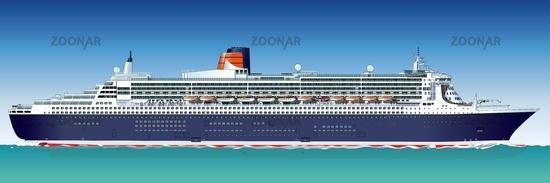 Hi-detailed cruise ship