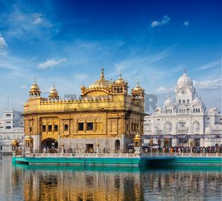 Sikh gurdwara Golden Temple (Harmandir Sahib). Amritsar