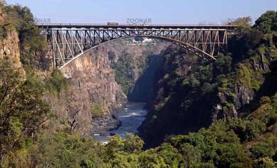 Brücke zwischen Sambia und Simbabwe