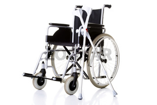 Invalid chair, wheelchair and crutches-