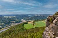 Blick vom Lilienstein Elbsandsteingebirge