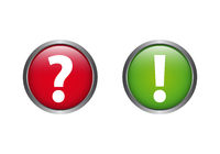 Problem Solution Question Answer Question Mark Exclamation Point Button Vector