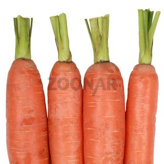 Karotten, isoliert auf weiss