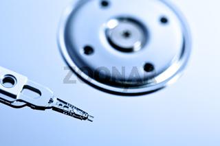 Hard disk drive head closeup