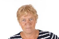 Portrait senior woman on white background