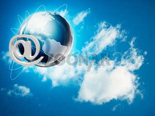 Global internet and communications backgrounds