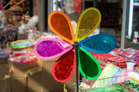 Colorful pinwheel on sale in the view