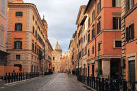 Rome, old town, early morning