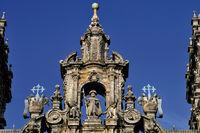 Spanien: Giebel der Kathedrale von Santiago