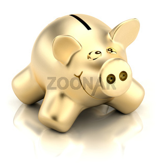Golden piggy bank
