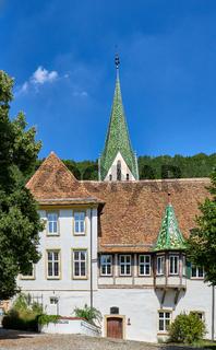Kloster ihn Blaubeuren an einem Sommertag. Deutschland, Baden-Württemberg, Benediktinerorden,