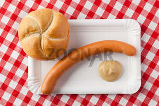 sausage and bread