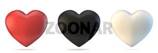Three hearts 3D